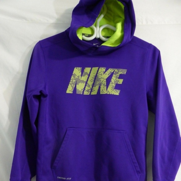 NIKE THERMA-FIT, purple, teen large, l, girls